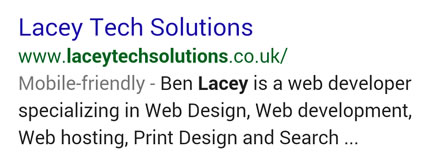 Google Mobile-Friendly Search Result
